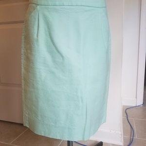 J. Crew mint green pencil skirt 6
